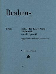 【輸入楽譜】ブラームス, Johannes: チェロ・ソナタ 第1番 ホ短調 Op.38/原典版/Schilde運指/Kanngiesser チェロ運…