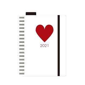 エトランジェ 手帳 2021年 マンスリーダイアリー A6 ホワイト (2020年12月始まり) DMA61-SH-11 手帳 (ダイアリー)