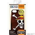 iPhone2012年モデル ワンピース・シェルジャケット ルフィ海賊旗 ダークブラウン
