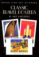 CLASSIC TRAVEL POSTERS:16 ART STICKERS