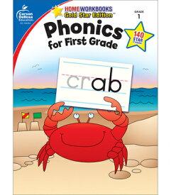 Phonics for First Grade, Grade 1: Gold Star Edition WORKBK-PHONICS FOR 1ST GRADE G (Home Workbooks: Gold Star Edition) [ Carson-Dellosa Publishing ]