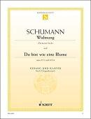 【輸入楽譜】シューマン, Robert: 歌曲集「ミルテの花」 Op.25 より 第1番「君に捧ぐ(わが婚約者へ)」、 第24番[君…
