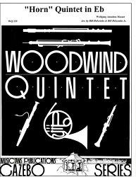 【輸入楽譜】モーツァルト, Wolfgang Amadeus: ホルン五重奏曲 変ホ長調 KV 404/木管五重奏用編曲