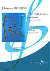 【輸入楽譜】ドンジョン, Johannes: 8つのサロン風練習曲