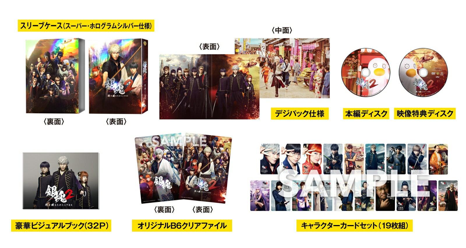 【先着特典】銀魂2 掟は破るためにこそある DVD プレミアム・エディション(2枚組)(初回仕様)(A5クリアファイル付き) [ 小栗旬 ]