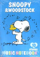 GXF01084819 SNOOPY&WOODSTOCK MUSIC NOTEBOOK 10staves (10冊単位)