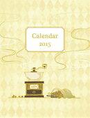 卓上 金箔箔押し 2015年 カレンダー