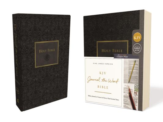 KJV, Journal the Word Bible, Hardcover, Black, Red Letter Edition, Comfort Print: Reflect, Journal, KJV JOURNAL THE WORD BIBLE HAR [ Thomas Nelson ]