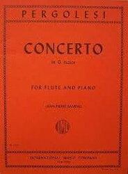 【輸入楽譜】ペルゴレージ, Giovanni Battista: フルート協奏曲 第1番 ト長調/ランパル編