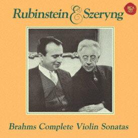 ベスト・クラシック100 81::ブラームス:ヴァイオリン・ソナタ全集(Blu-spec CD2) [ シェリング ルービンシュタイン ]