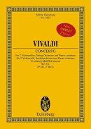 【輸入楽譜】ヴィヴァルディ, Antonio: 2本のチェロのための協奏曲 ト短調 F.III, N.2 RV 531: スタディ・スコア