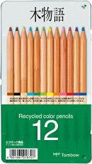 木物語缶入色鉛筆 12色