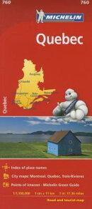 Michelin Quebec Map 760