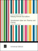 【輸入楽譜】リムスキー=コルサコフ, Nikolai Andreevich: オーボエと吹奏楽のための「グリンカの主題による変奏曲…
