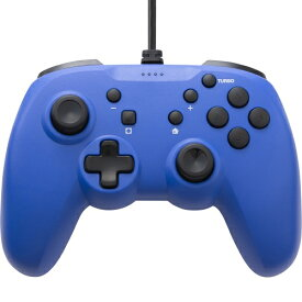【連射ボタン搭載】 CYBER ・ ジャイロコントローラー ライト 有線タイプ ( SWITCH 用) ブルー