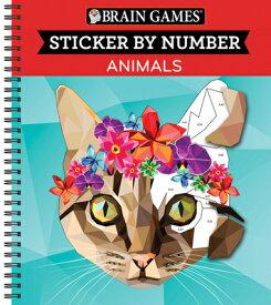 Brain Games - Sticker by Number: Animals (Geometric Stickers) BRAIN GAMES - STICKER BY NUMBE (Brain Games - Sticker by Number) [ Publications International Ltd ]