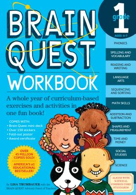 Brain Quest Workbook: Grade 1 [With Stickers] BRAIN QUEST WORKBK GRADE 1 (Brain Quest) [ Lisa Trumbauer ]