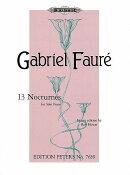 【輸入楽譜】フォーレ, Gabriel-Urbain: ノクターン集: Op.33/1-3, 36-37, 63, 74, 84/8, 97, 99, 104/1, 107, 119