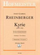 【輸入楽譜】ラインベルガー, Joseph Gabriel: キリエ JWV 155/Bartel & Kienzle編: パート譜セット