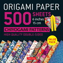 ORIGAMI PAPER CHIYOGAMI 500 SHEETS