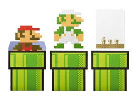 スーパーマリオ ホーム&パーティ メッセージカード&封筒 (8-bit キャラクター)