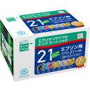 エプソン IC7CL21対応 エコリカ リサイクルインクカートリッジ 7色パック