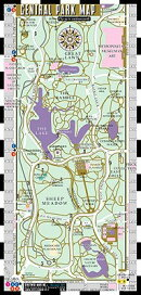 Streetwise Central Park Map - Laminated Pocket Map of Central Park, New York: Folding Pocket & Walle