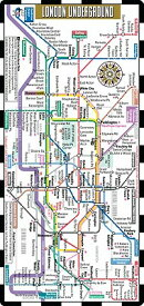 Streetwise London Underground Map - The Tube - Laminated London Metro Map: Folding Pocket & Wallet S