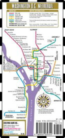 Streetwise Washington DC Metro Map - Laminated Washington DC Public Metro Map - Minimetro: Folding P
