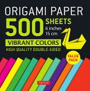 ORIGAMI PAPER 500 SHEETS:VIBRANT COLORS
