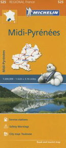 Michelin Regional Maps: France: MIDI-Pyrenees Map 525