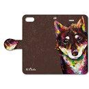 NJ-BKISE-079 NiJiSuKe×collaborn 柴犬 【iPhone SE/5/5s専用 Folio(手帳)ケース】
