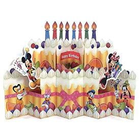 ホールマーク バースデー立体カード ディズニー 669409 パルスビッグケーキ グリーティングカード (文具(Stationary))