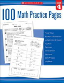 100 Math Practice Pages (Grade 4)