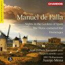 【輸入盤】『三角帽子』、『スペインの庭の夜』、『讃歌』 メナ&BBCフィル、バヴゼ、ロヘンディオ [ ファリャ(1876-1946) ]
