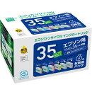 IC6CL35互換リサイクルインクカートリッジ 6色パック ECI-E356P/BOX エコリカ