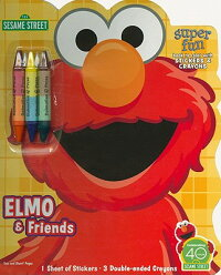 Elmo&Friends:BooktoColorwithCrayons&Stickers[With3Crayons]