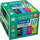 LC104PK互換リサイクルインクカートリッジ 4色パック ECI-BR104P/BOX エコリカ