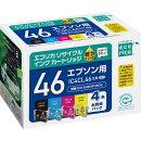 IC4CL46互換リサイクルインクカートリッジ 4色パック ECI-E464P/BOX エコリカ