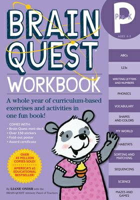 Brain Quest Workbook: Pre-K [With Stickers] BRAIN QUEST WORKBK PRE-K (Brain Quest) [ Liane Onish ]