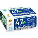 IC6CL47互換リサイクルインクカートリッジ 6色パック ECI-E476P/BOX エコリカ
