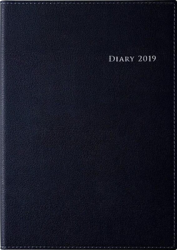 2019年度版 4月始まり No.961 デスクダイアリー カジュアル 1 黒