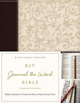 KJV, Journal the Word Bible, Imitation Leather, Brown/Cream, Red Letter Edition: Reflect, Journal, o KJV JOURNAL THE WORD BIBLE HAR [ Thomas Nelson ]