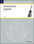 【輸入楽譜】ペンデレツキ, Krzysztof: サラバンド