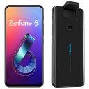 "<Zenfone 6>ミッドナイトブラック/6.4""2340x1080(FHD+)/Android 9.0/Qualcomm Snapdragon 855(オクタコアCPU)2.84G…"
