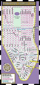 Streetwise Manhattan Address Map - Laminated Address Map of Manhattan, NY: Folding Pocket & Wallet S