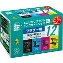 LC124PK互換リサイクルインクカートリッジ 4色パック ECI-BR124P/BOX エコリカ