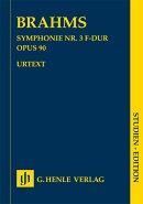 【輸入楽譜】ブラームス, Johannes: 交響曲 第3番 ヘ長調 Op.90/新ブラームス全集版/パスカル編: 原典版中型スコア