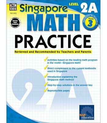 Math Practice, Grade 3: Reviewed and Recommended by Teachers and Parents MATH PRAC GRADE 3-ACTIVITY BK (Singapore Math Practice) [ Singapore Asian Publishers ]