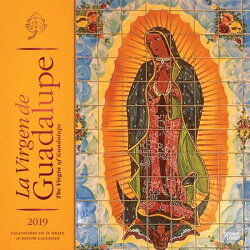 La Virgen de Guadalupe 2019 Square Spanish English Foil
